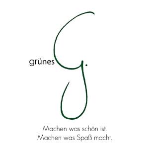 grünes G quadratisch mit Text